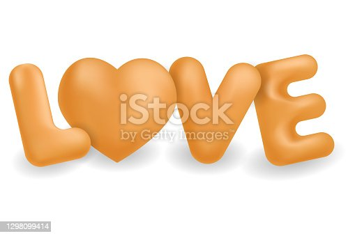 istock The word love.3D letters and a heart.Vector illustrations isolated on a white background. 1298099414