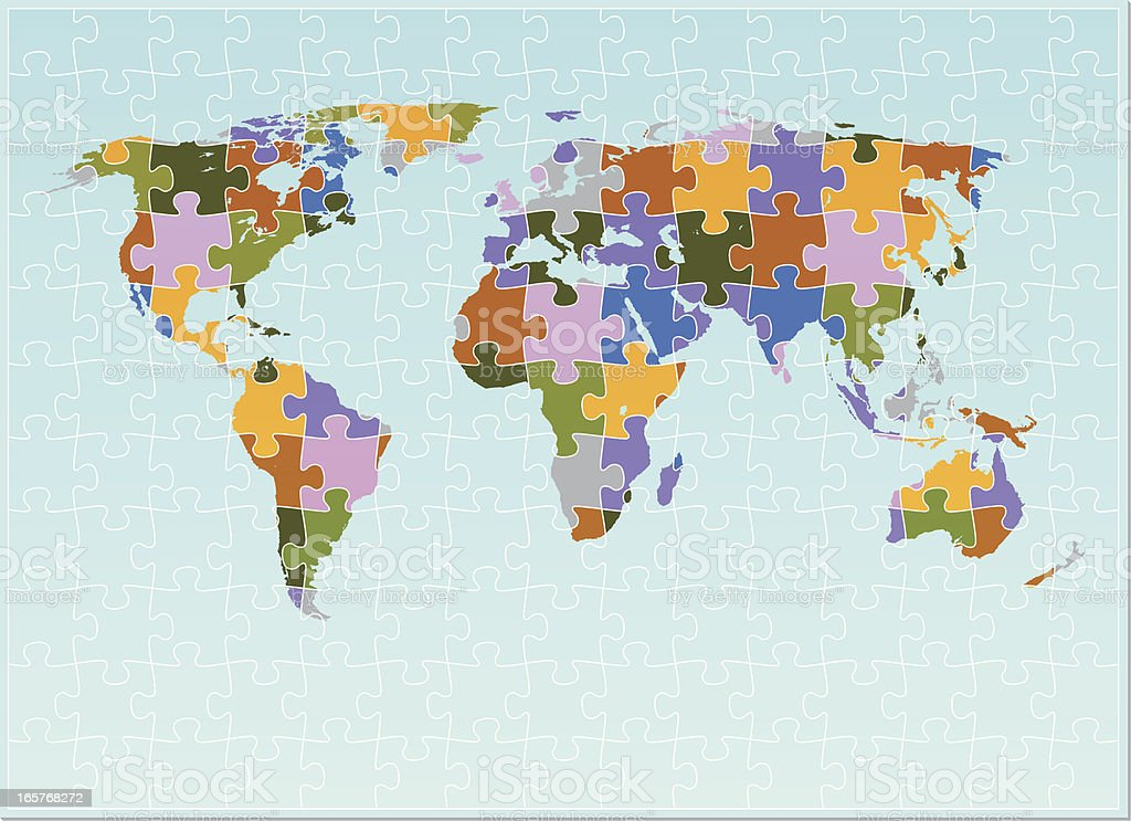 The world map puzzle stock vector art more images of blue the world map puzzle royalty free the world map puzzle stock vector art amp gumiabroncs Images