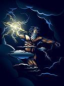 The Wrath of Zeus vector illustration