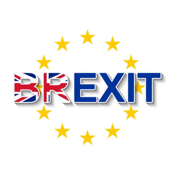 ilustrações, clipart, desenhos animados e ícones de brexit e a coroa de estrelas da união europeia - retirada do reino unido da ue. - bandeira union jack