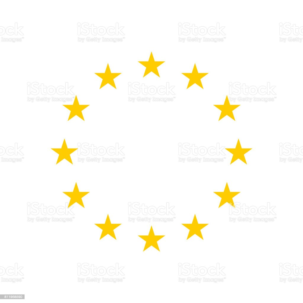 The wreath of stars of EU. vector art illustration