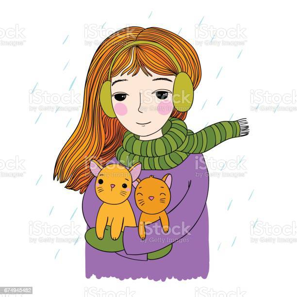 The young beautiful girl with two cute little kittens vector id674945482?b=1&k=6&m=674945482&s=612x612&h=ijor2ow0ddlo7m1bevlgj9qdbxikmw mpjovig5sdqo=