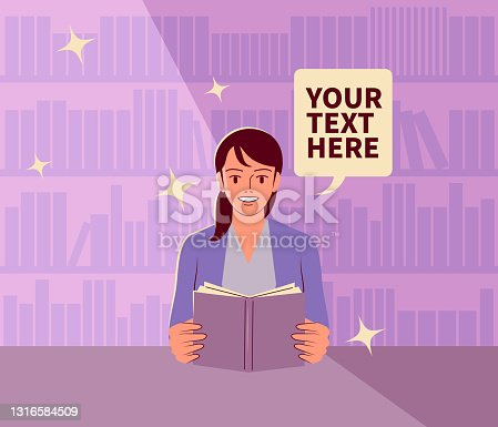 istock The young woman is reading a book in the library; Never stop learning; To invest in yourself; Knowledge is power 1316584509