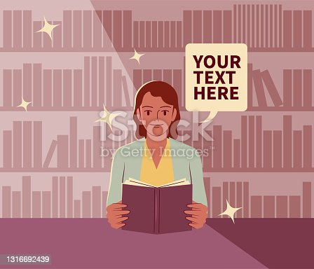 istock The young woman is reading a book in the library; Never stop learning; To invest in yourself; Knowledge is power 1316692439