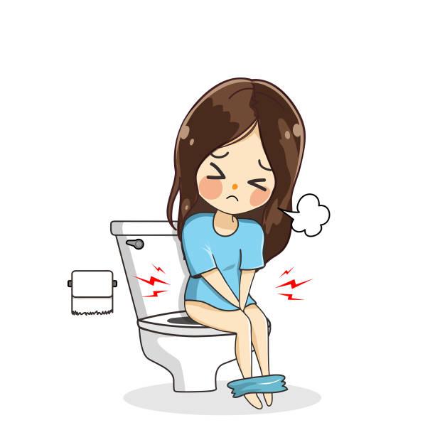 Cartoon Of Little Girls Peeing Illustrations, Royalty-Free