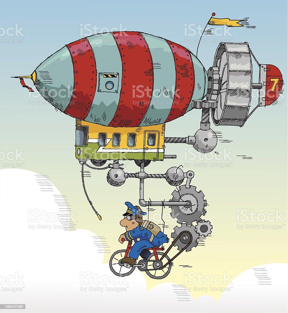 The Zeppelin royalty-free stock vector art