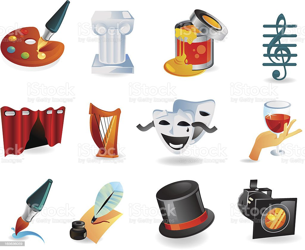 Theater and Arts Icons royalty-free theater and arts icons stock vector art & more images of architectural column