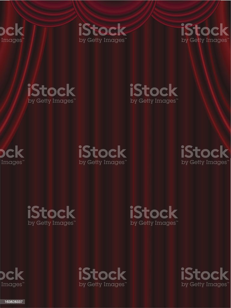Theater Drapes and Curtains royalty-free stock vector art