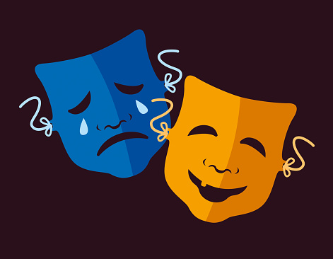 Theater Icons Comedy And Tragedy Masks