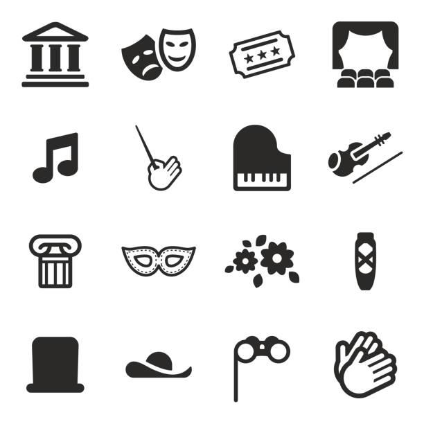 theater-icons - bandleader stock-grafiken, -clipart, -cartoons und -symbole