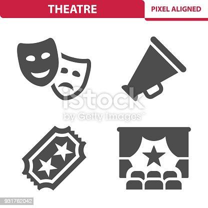 istock Theater Icons 931762042
