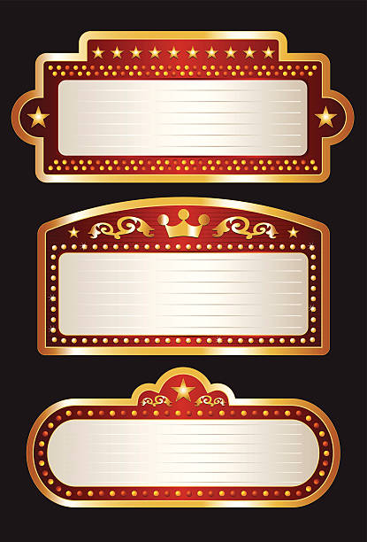 Theater Marquee Collection vector art illustration