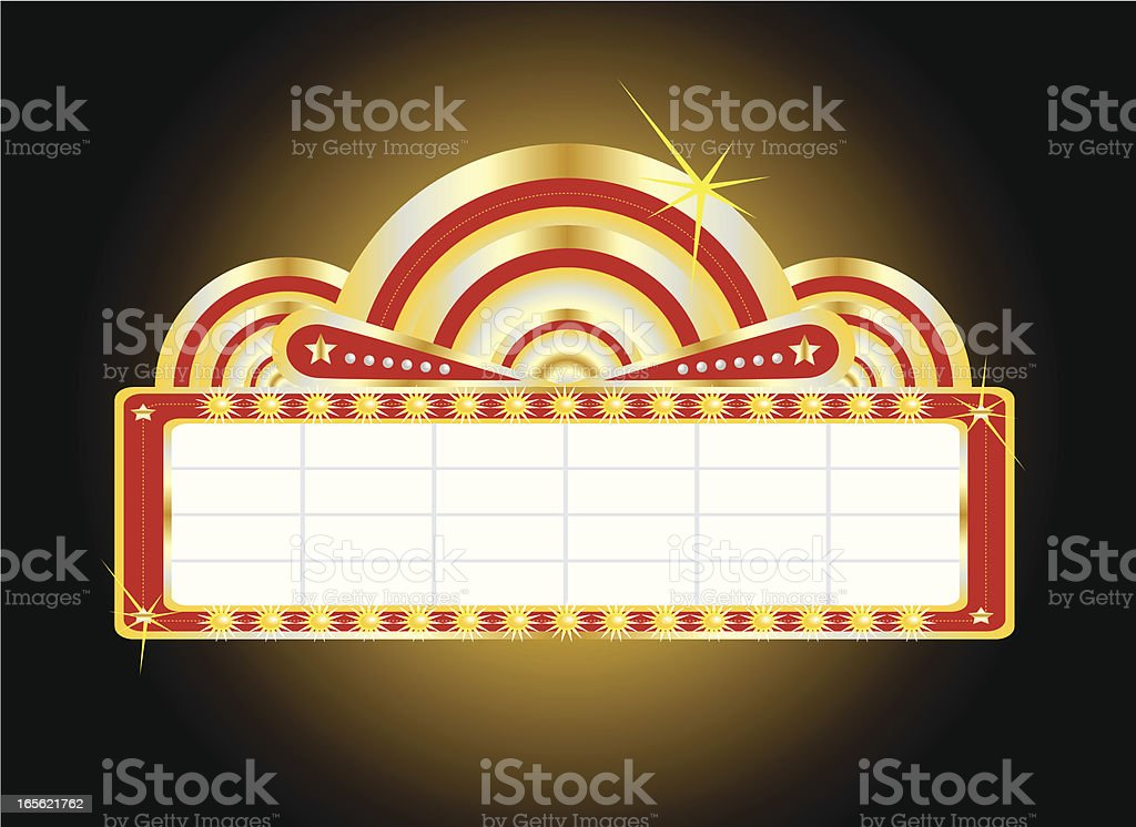 Theater Marquee royalty-free stock vector art