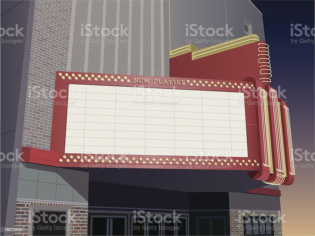 Theater Marquee vector art illustration