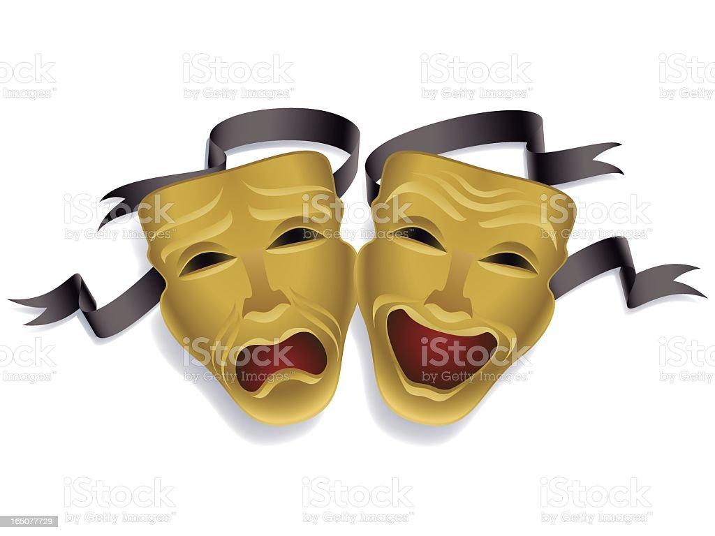 theater mask vector art illustration