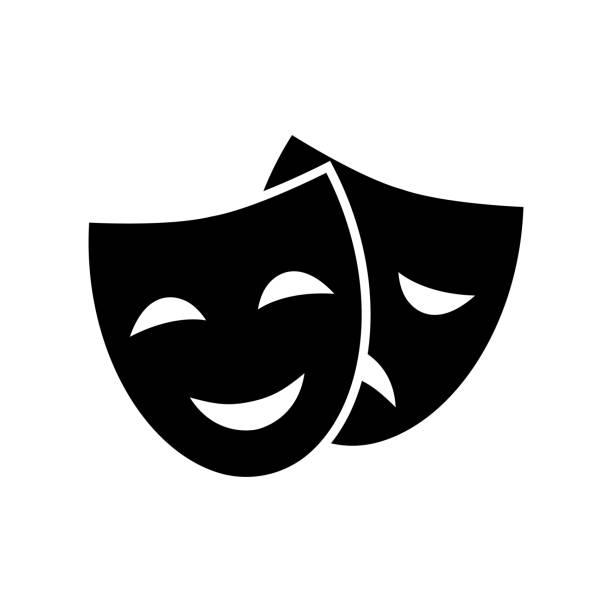 illustrations, cliparts, dessins animés et icônes de vecteur de masque de théâtre - theatre