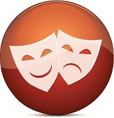vector file of Theater Masks, eps10, transparency used.
