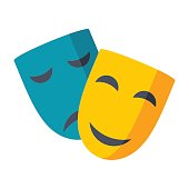 Theater Masks Vector Icon