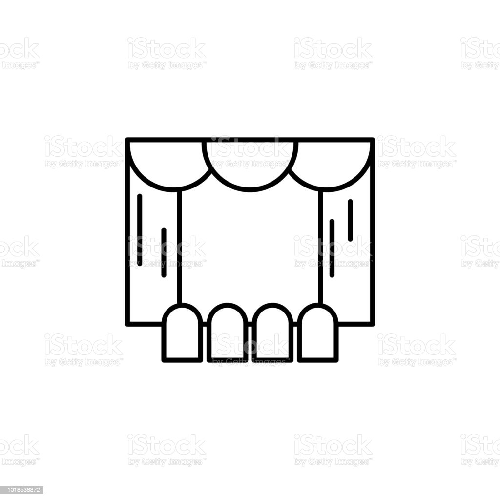 Theater Scene Icon Element Of Lighting For Mobile Concept And Diagram Web Apps Thin