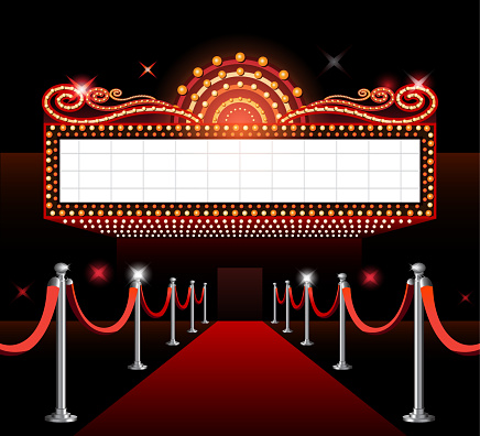Theater Sign Movie Premiere Stock Illustration Download