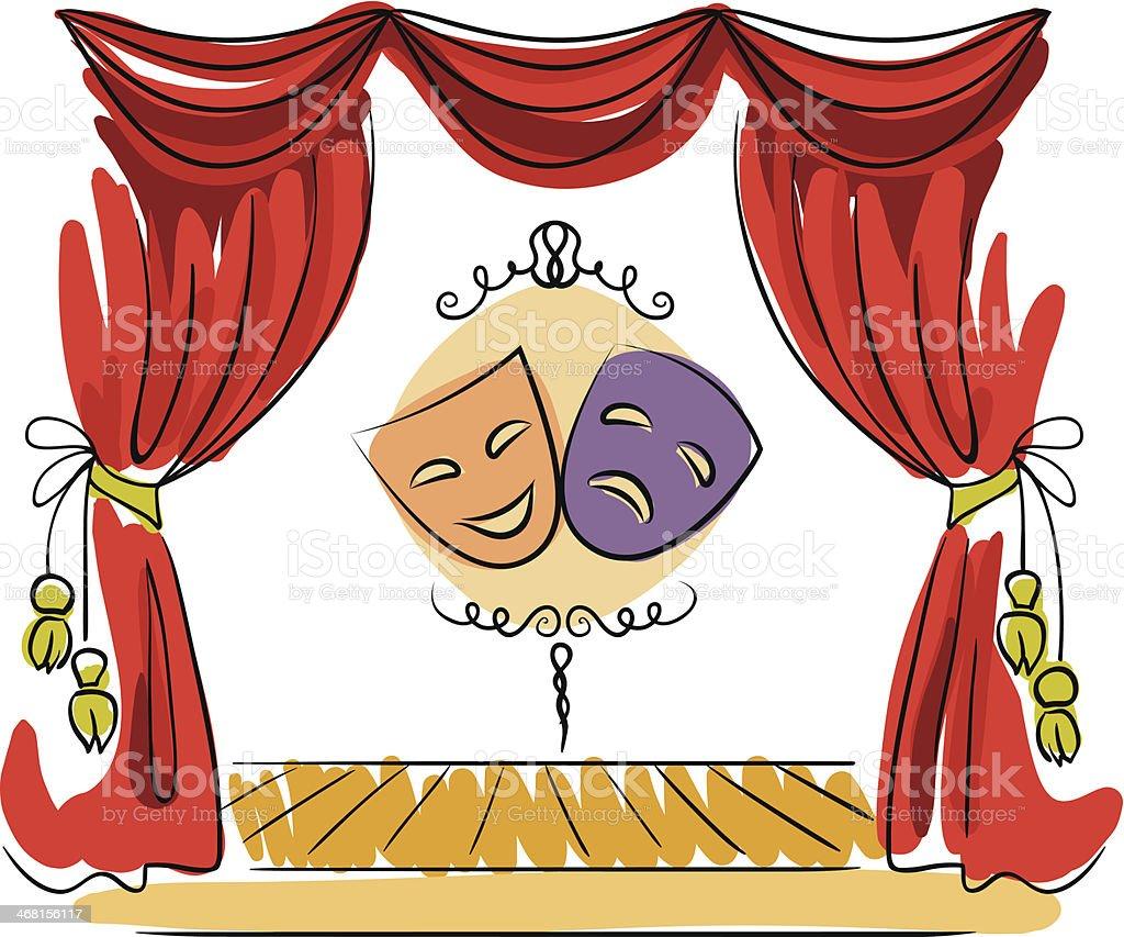 Th tre sc ne vector illustration stock vecteur libres de - Dessin de theatre ...