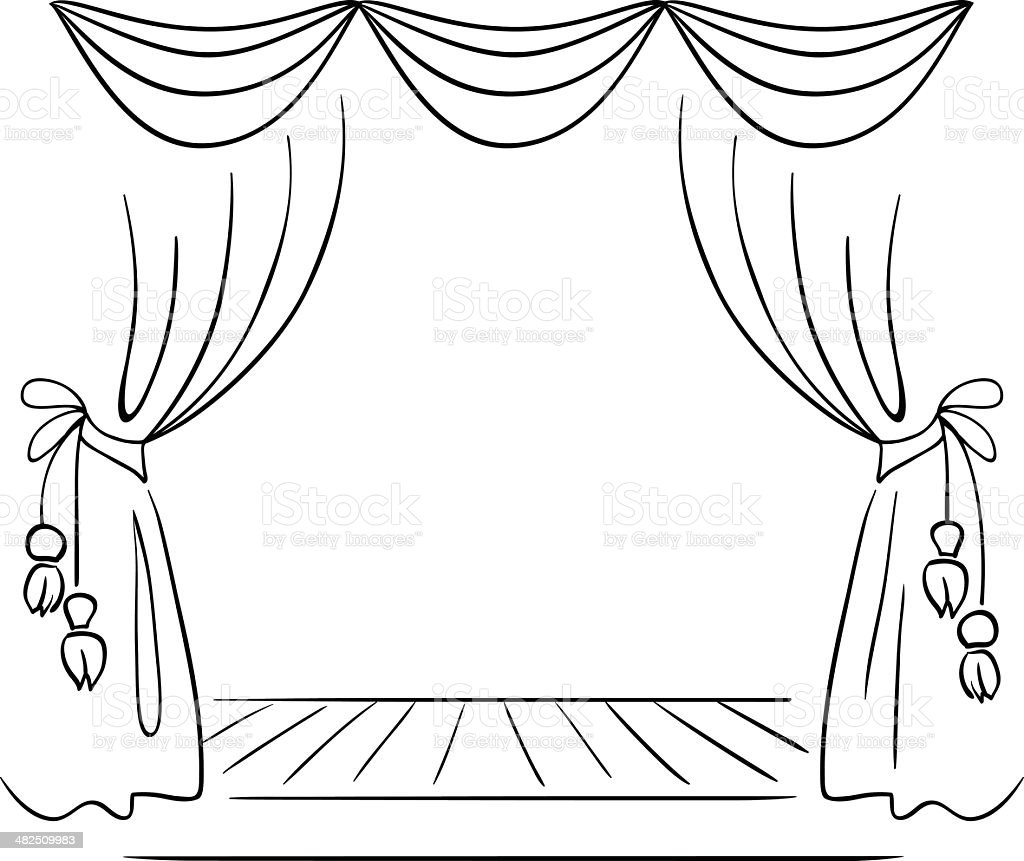 theater stage vector sketch stock vector art  u0026 more images