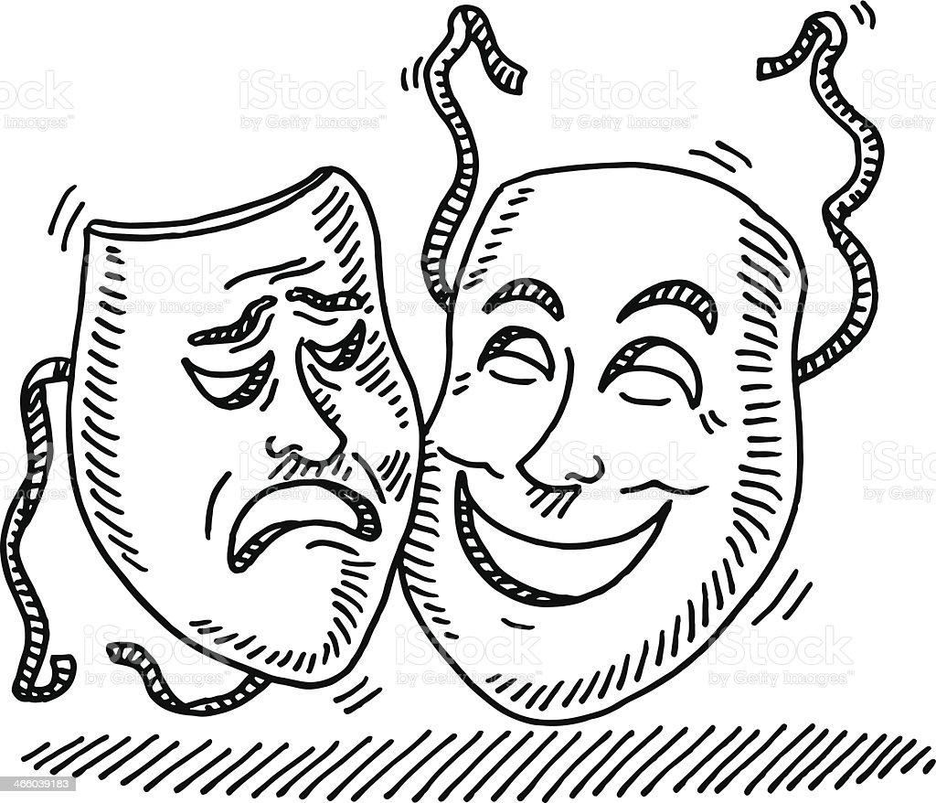 Symbole de dessin au masque de th tre cliparts - Dessin de theatre ...