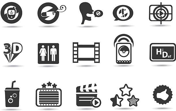 theater, kinos und symbole - standlautsprecher stock-grafiken, -clipart, -cartoons und -symbole