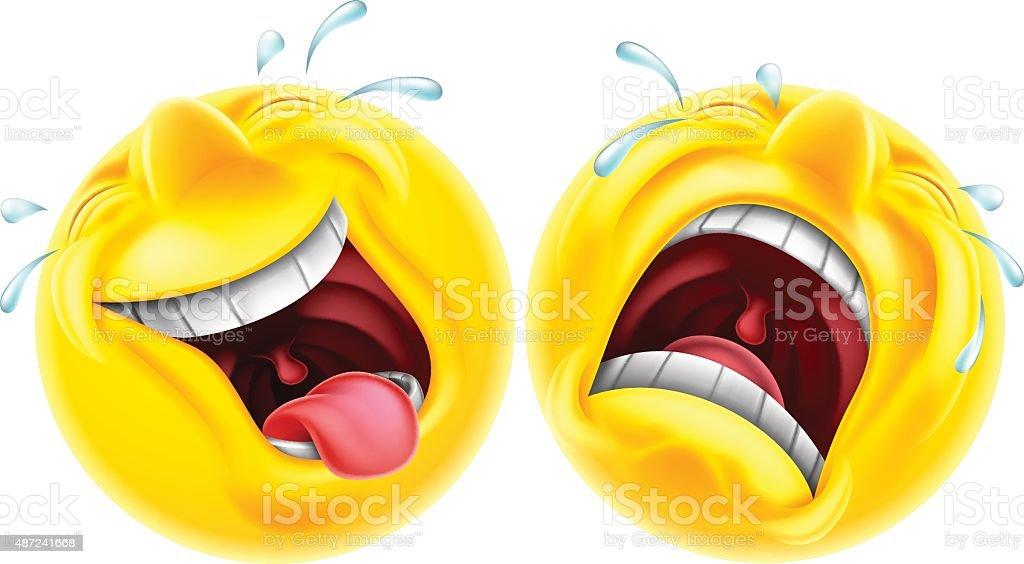 Theatre comedy tragedy emoji vector art illustration