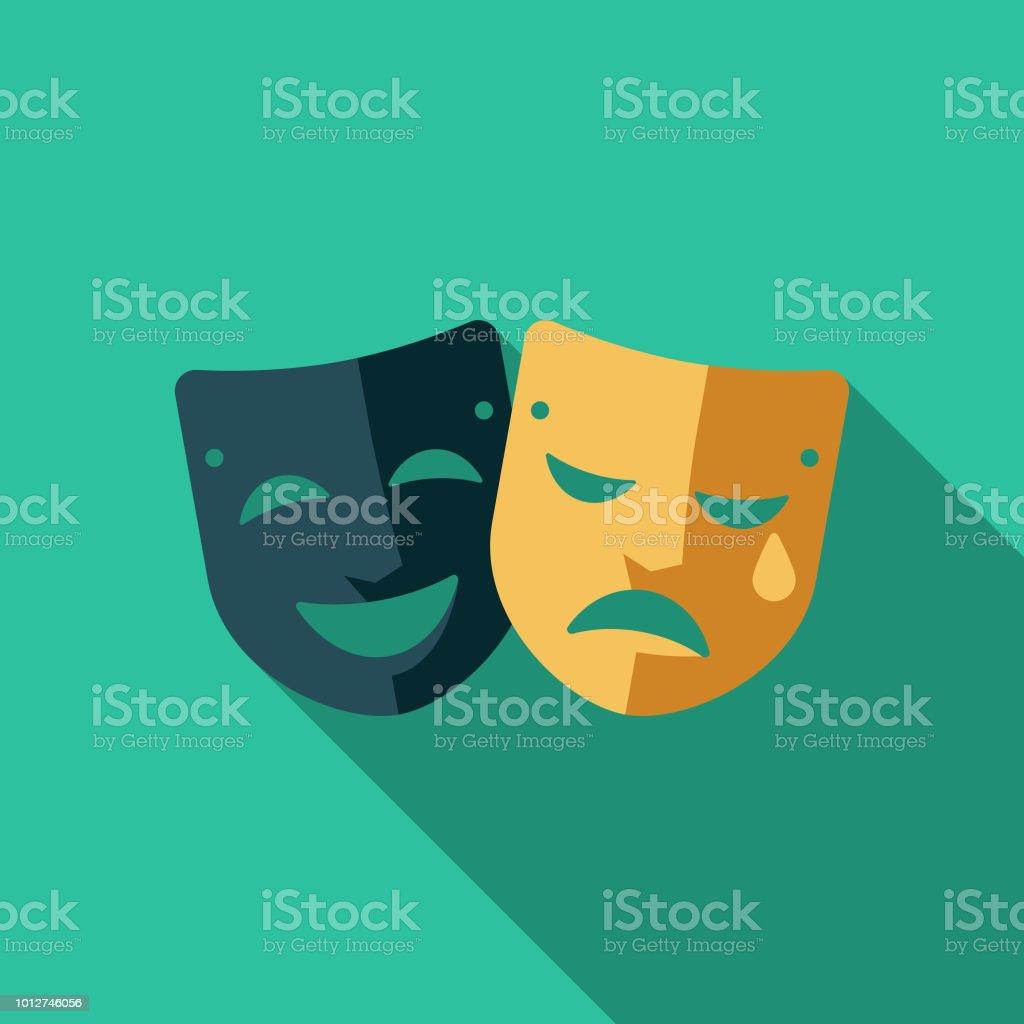 Theatre Flat Design United Kingdom Icon vector art illustration