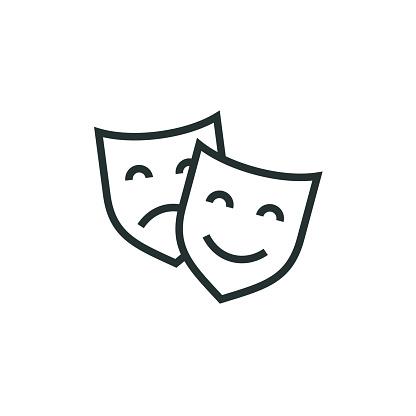 Theatre Mask Line Icon