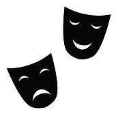 theatrical masks are black