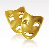 Theatrical masks of tragedy and comedy