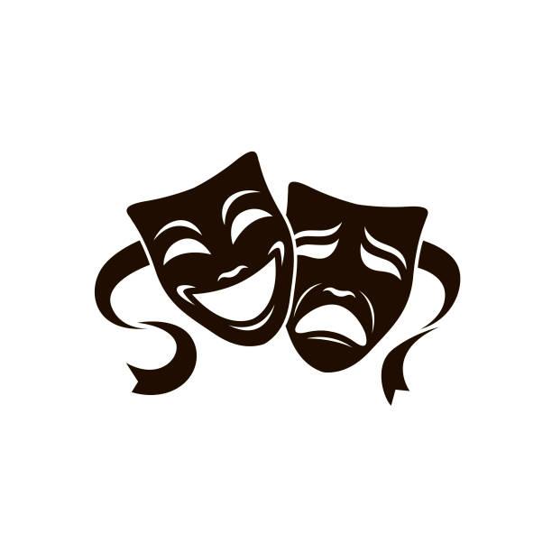 illustrations, cliparts, dessins animés et icônes de masques de théâtre ensemble - theatre