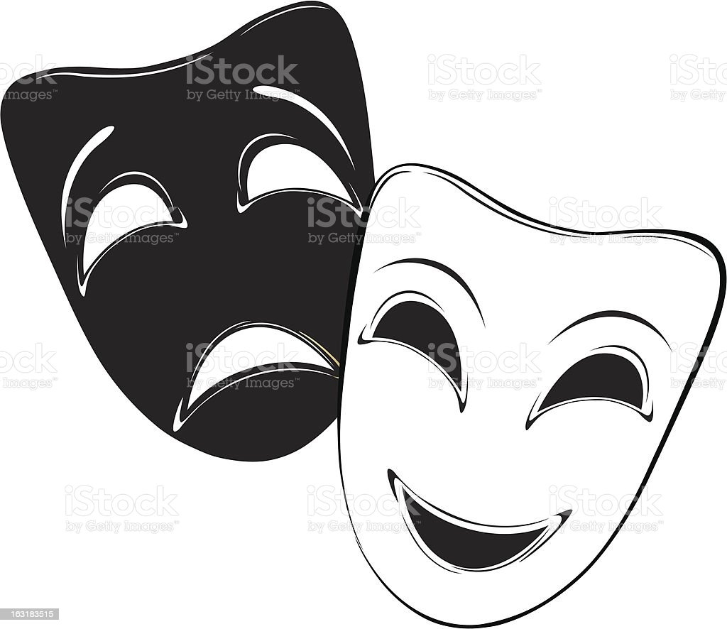 Theatrical Masks Stock Illustration Download Image Now Istock