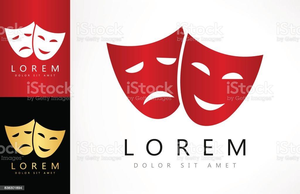 Máscaras teatral - ilustración de arte vectorial