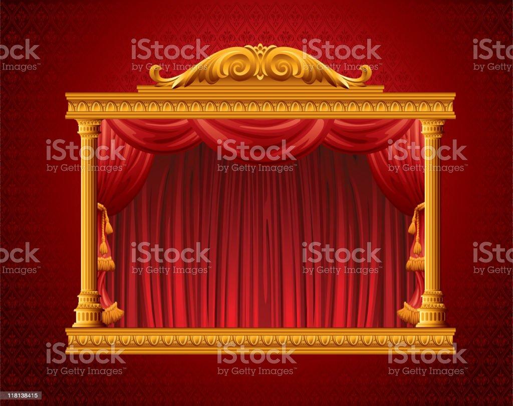 Theatrical scene royalty-free stock vector art