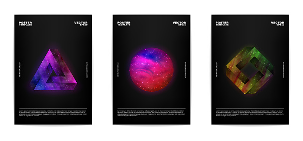 Thee abstract posters