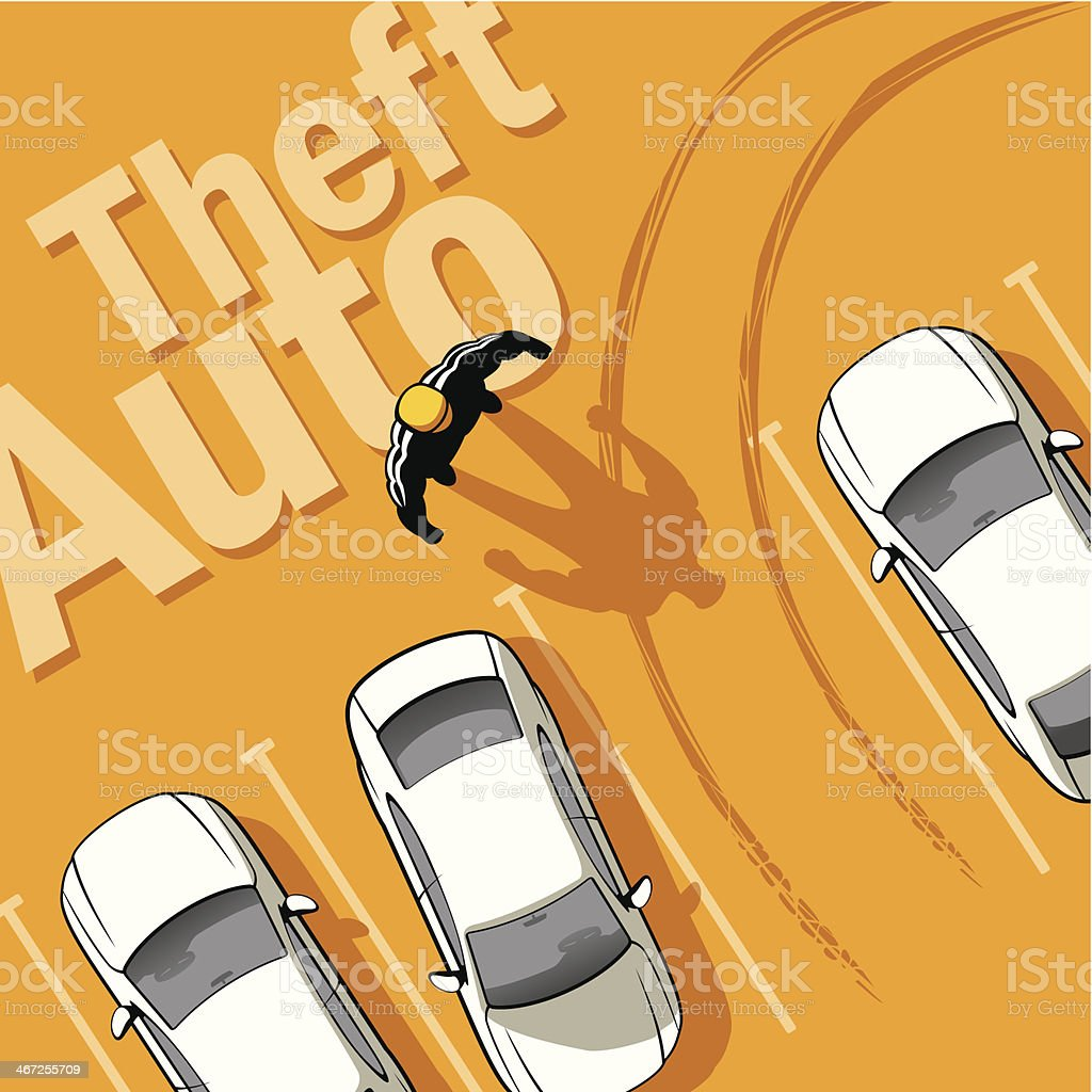 Theft Auto vector art illustration