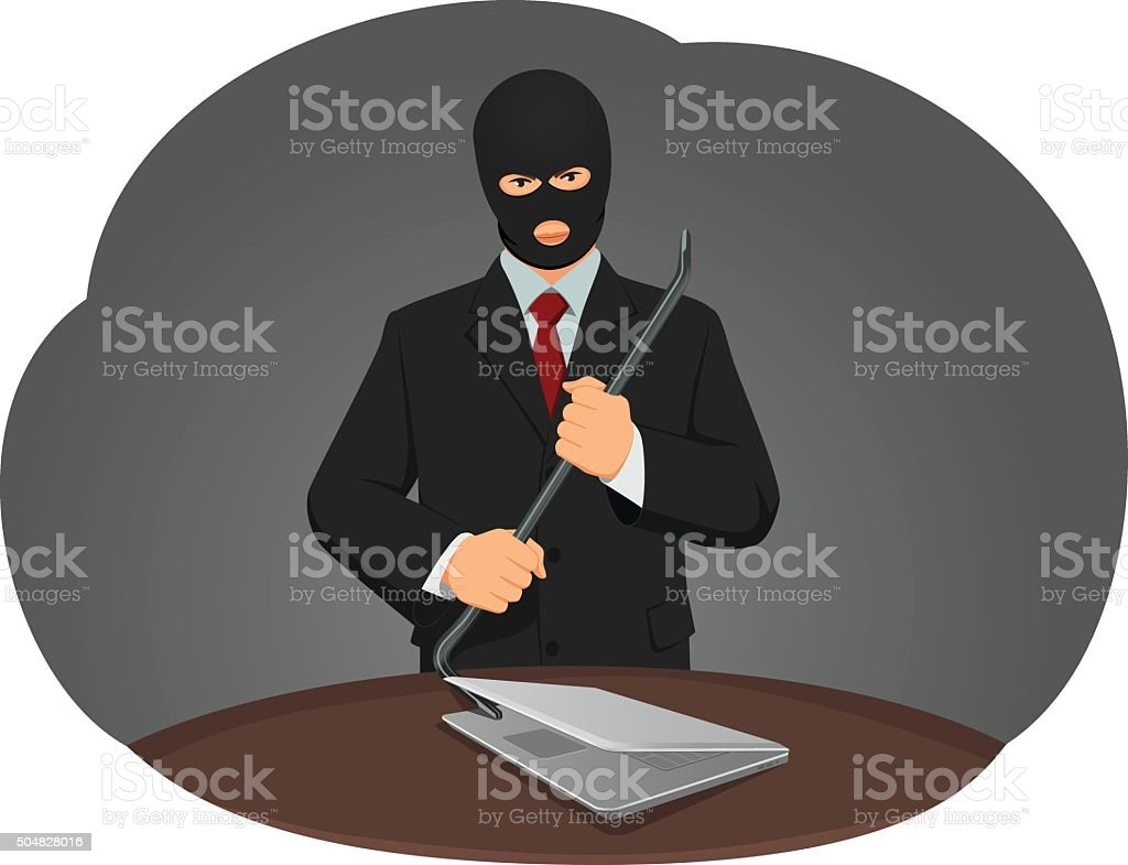 Theft vector art illustration