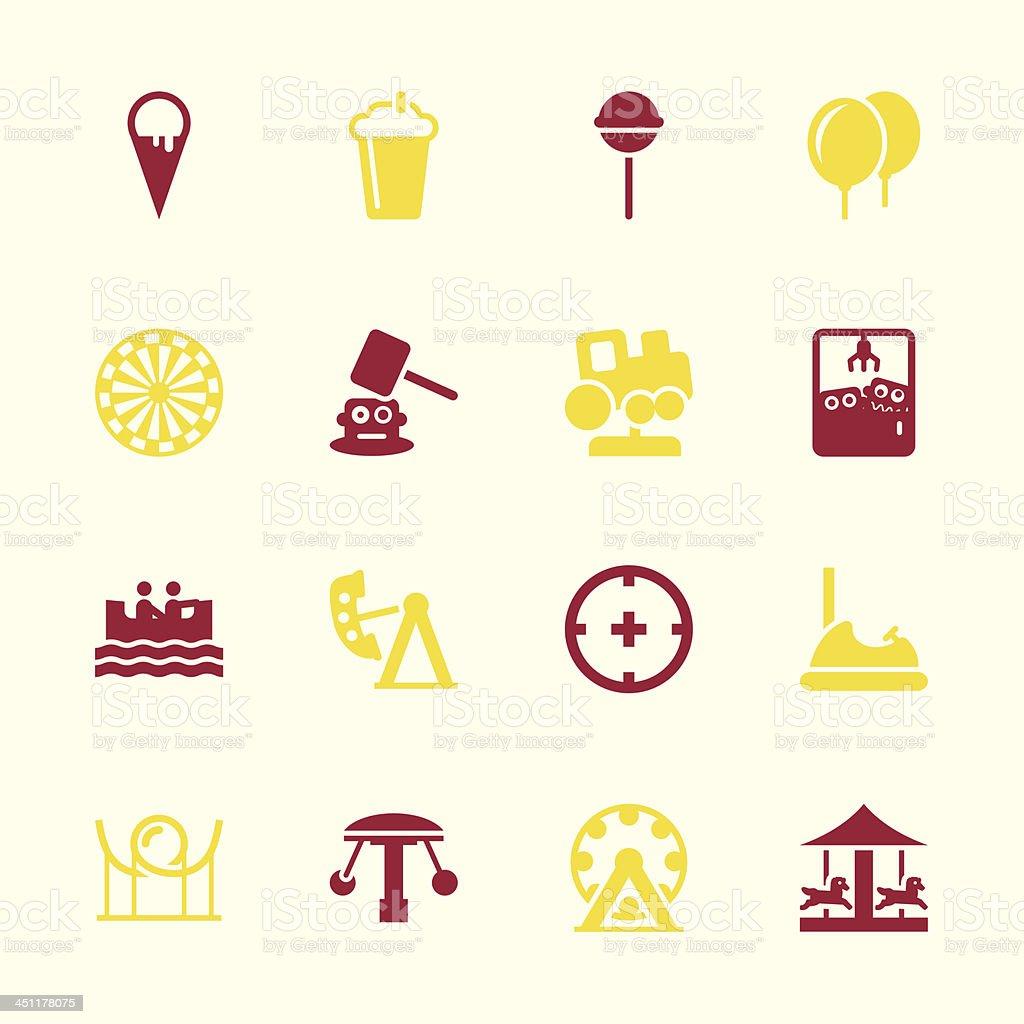 Theme Park Icons - Color Series | EPS10 royalty-free theme park icons color series eps10 stock vector art & more images of amusement park