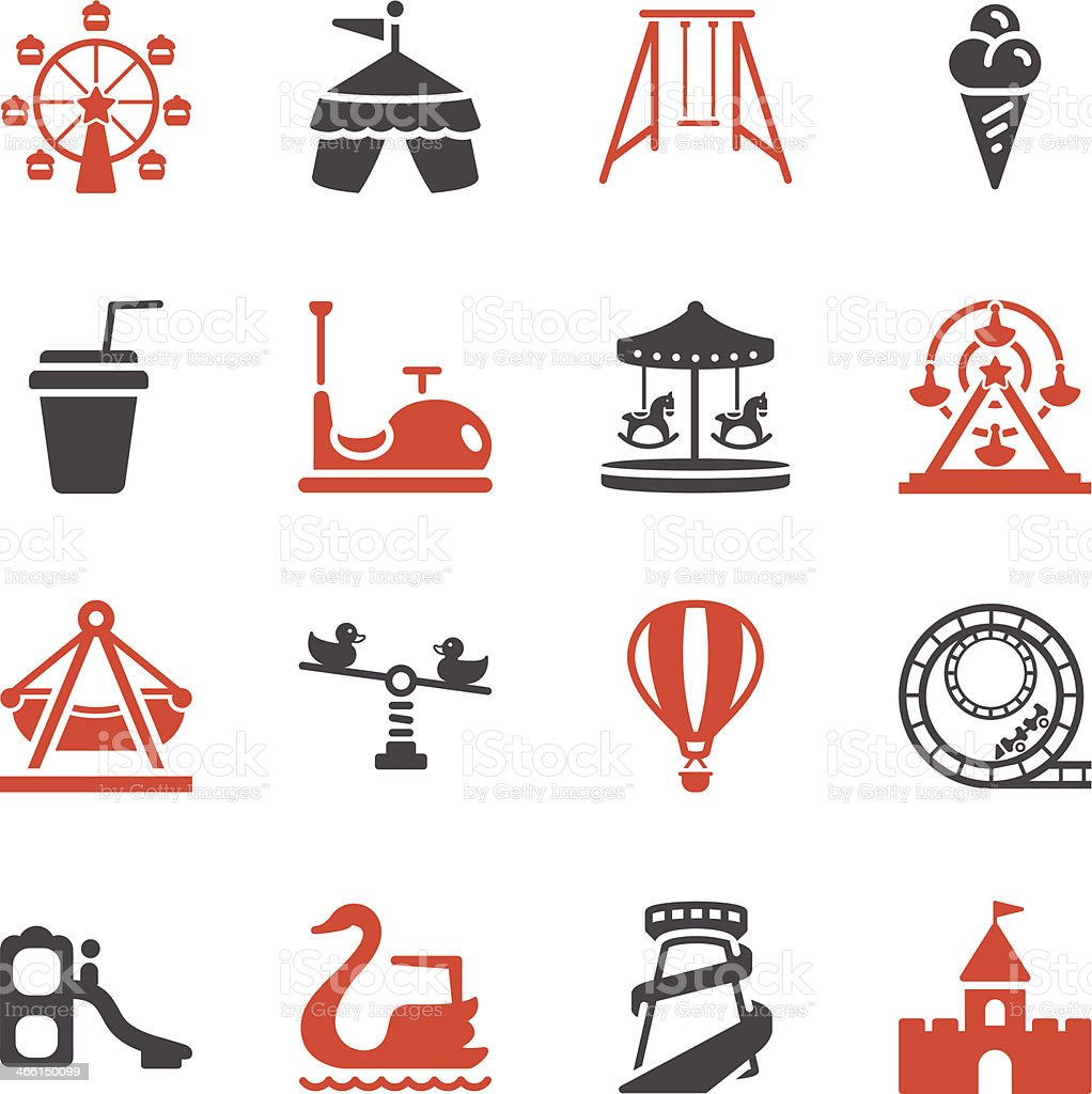 Theme Park Icons | Color Series royalty-free stock vector art