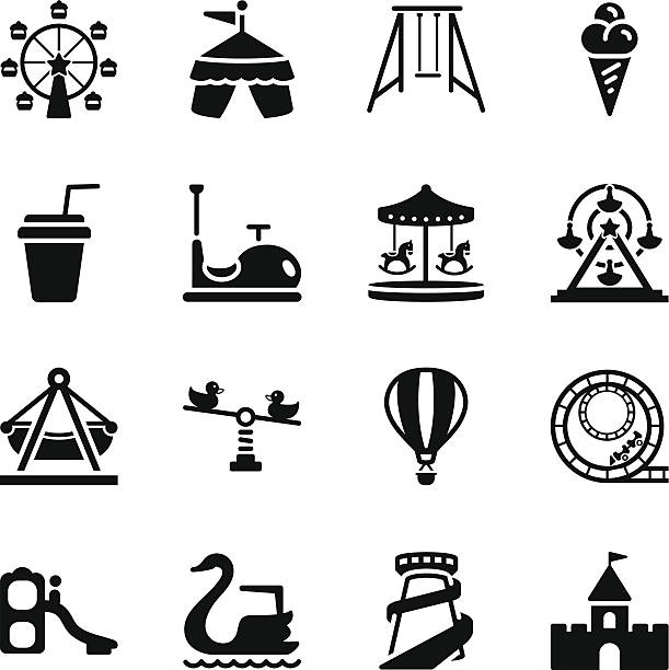 Royalty Free Amusement Park Slide Clip Art, Vector Images