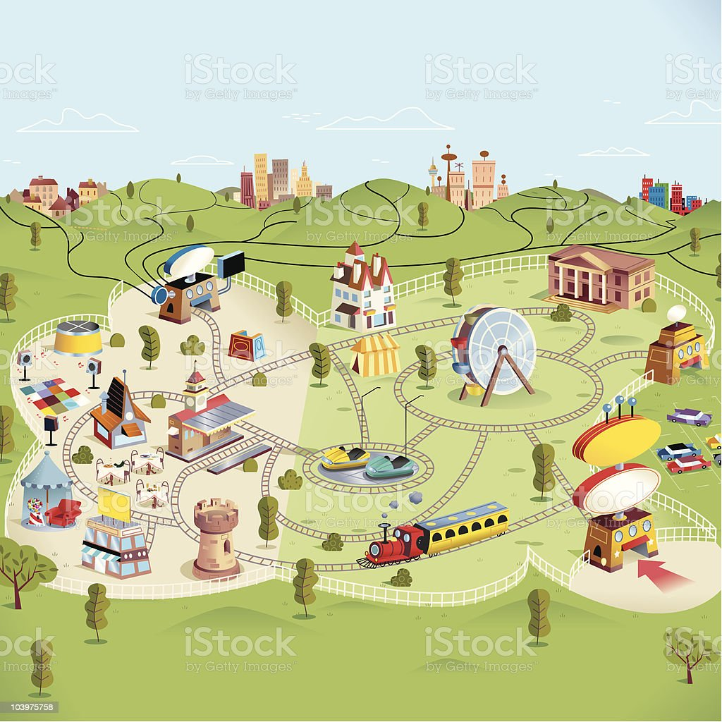 Theme Park royalty-free stock vector art