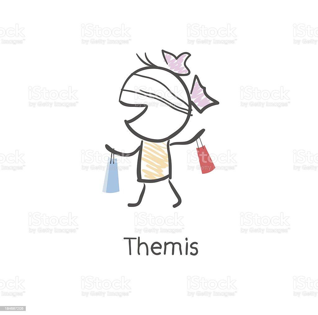 Themis royalty-free stock vector art