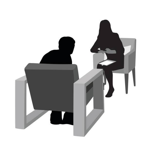 ilustraciones, imágenes clip art, dibujos animados e iconos de stock de therapist advice - profesional de salud mental