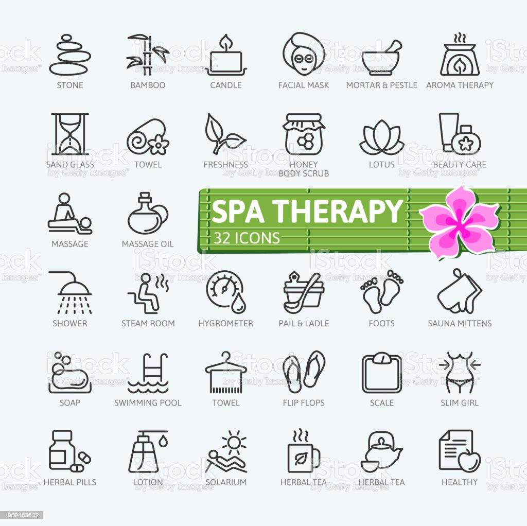 Elementos de terapia SPA - colección de iconos de contorno ilustración de elementos de terapia spa colección de iconos de contorno y más vectores libres de derechos de adulto libre de derechos