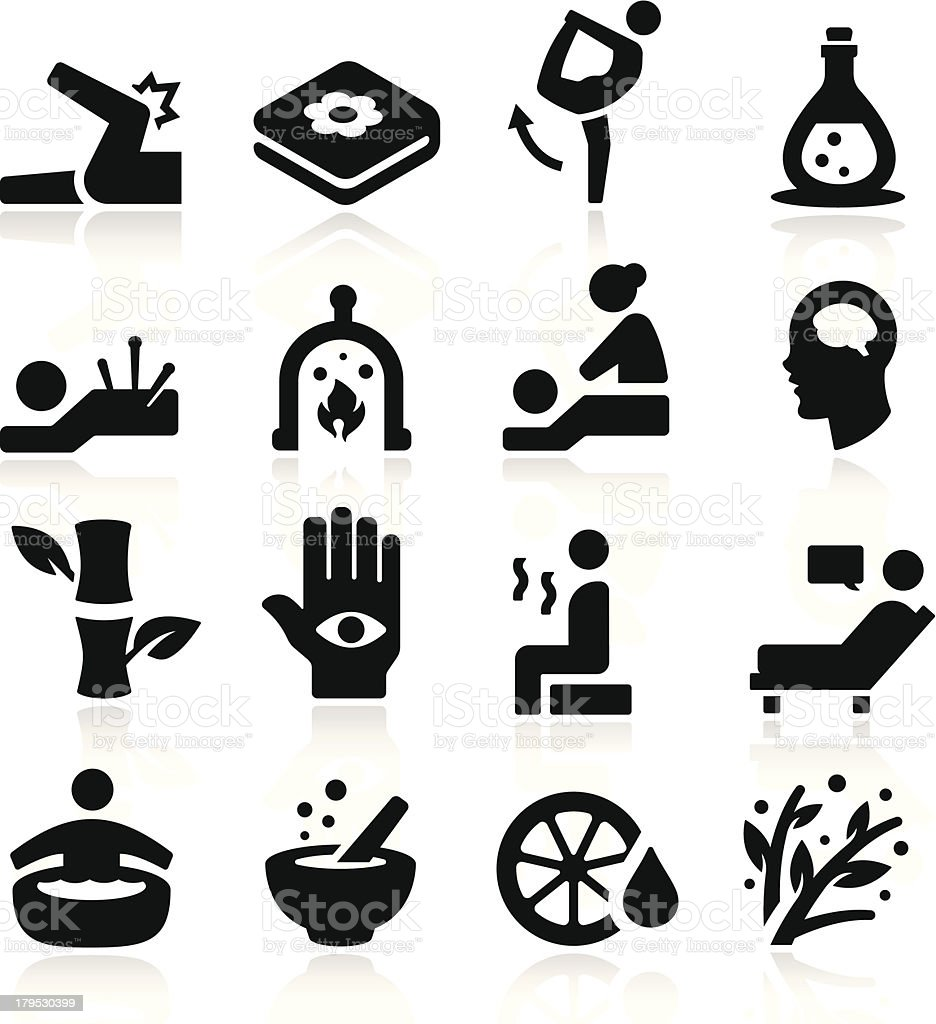Therapy Icons royalty-free stock vector art