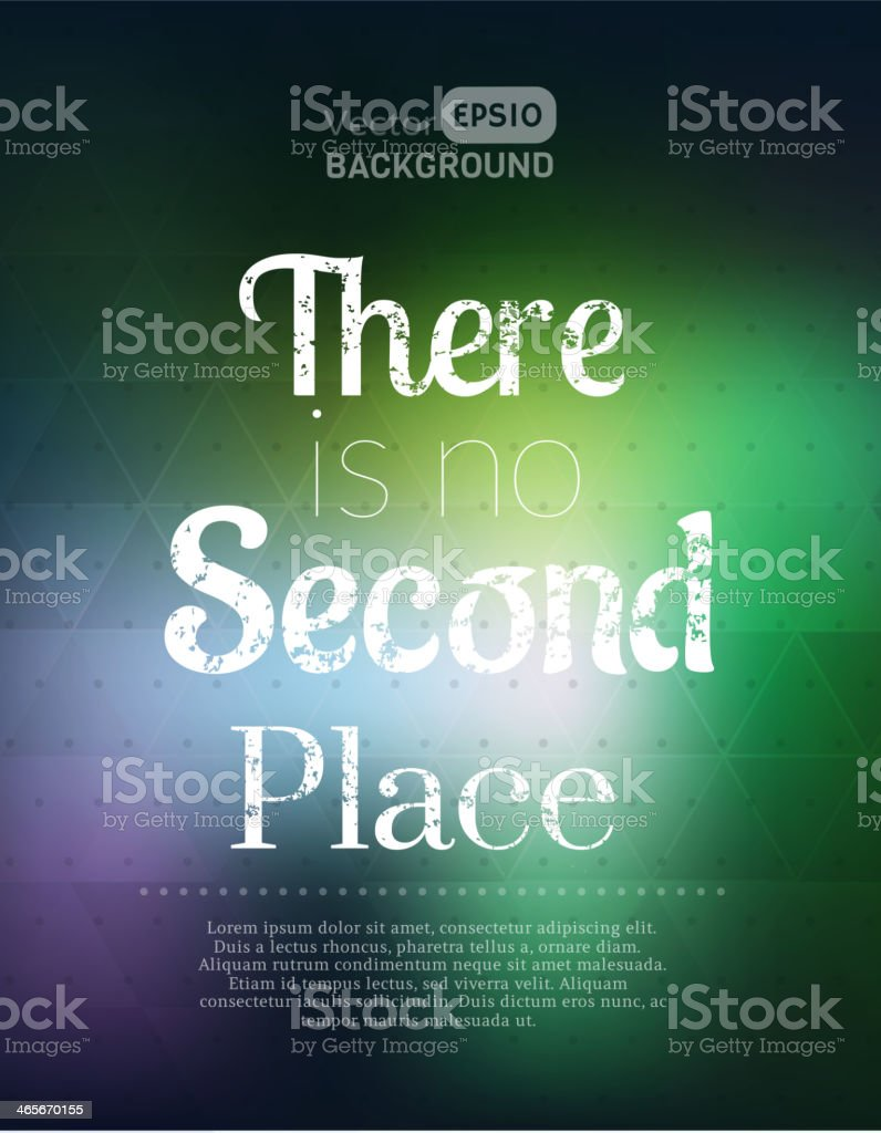 There is no second place royalty-free there is no second place stock vector art & more images of abstract