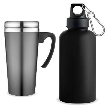 Thermo mug whater bottle. Reusable thermo tumbler